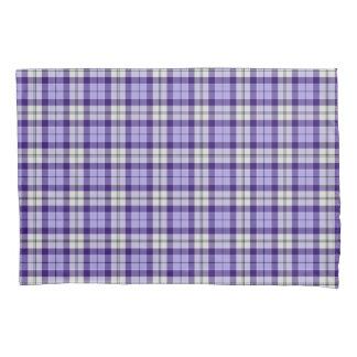 Strathclydeスコットランド地区のタータンチェックの紫色の格子縞 枕カバー