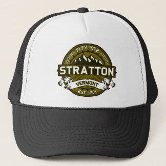 Strattonのロゴのオリーブ キャップ