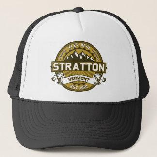 Strattonのロゴタン キャップ