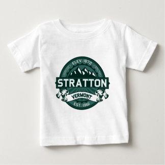"""Strattonのロゴ""""ヴァーモント緑"""" ベビーTシャツ"""