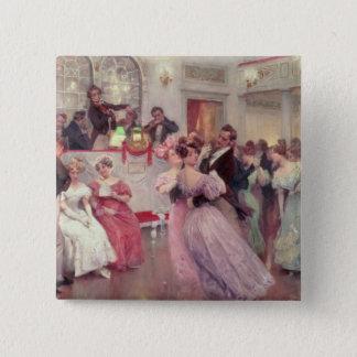 StraussおよびLanner -球1906年 5.1cm 正方形バッジ