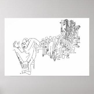 Stravinskyのピアノ ポスター