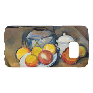 STRAW-COVEREDのつぼ、卓上砂糖入れおよびりんご、 SAMSUNG GALAXY S7 ケース