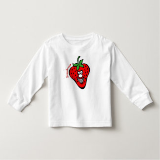 Strawberry *Kids White Long Sleeve トドラーTシャツ