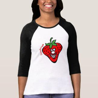 Strawberry *Women 3/4 Sleeve Raglan T-Shirt Tシャツ