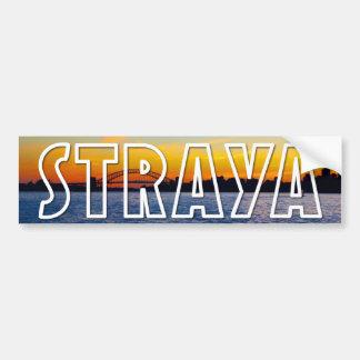 Strayaシドニーの日没 バンパーステッカー