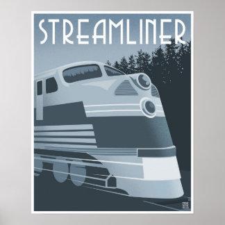 Streamlinerの列車 ポスター
