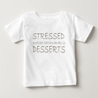 stressed後方にですデザート綴りました ベビーTシャツ