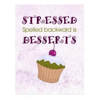 stressed後方にですデザート綴りました ポストカード