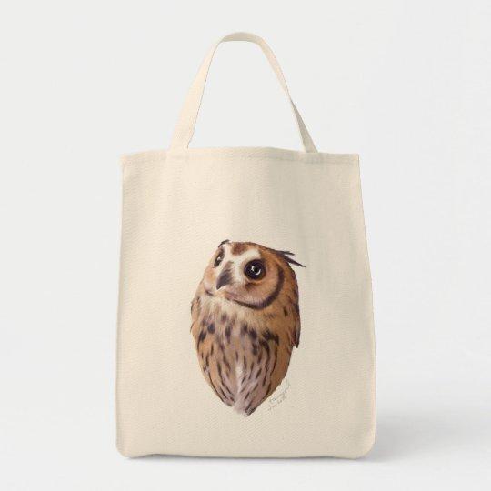 Striped owl  ショッピングトート トートバッグ