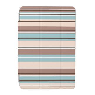 Stripeyのデザインは青いクリーム及び白を茶色にします iPad Miniカバー