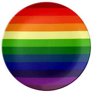 STRIPITTY! STRIPETTY!  それは虹縞で飾りますです! ~ 磁器プレート