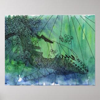 Stromboのザトウクジラの芸術ポスター ポスター