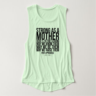 STRONG AS A MOTHER- flowy muscle tank タンクトップ