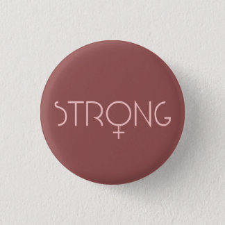strong,woman,pink 3.2cm 丸型バッジ