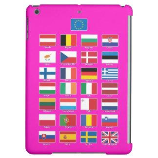 StrongerInの(残して下さい) iPad; EU 28の国家の旗