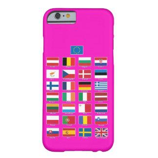 StrongerInの(残して下さい) iPhone; EU 28の国家の旗 Barely There iPhone 6 ケース