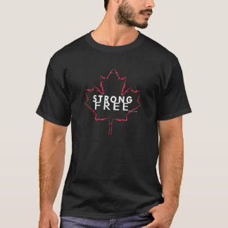 StrongFreeBlog.comカナダ銃の葉 Tシャツ