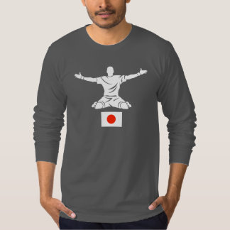 Strykrの服装の灰色の長袖のTシャツJPNの旗 Tシャツ
