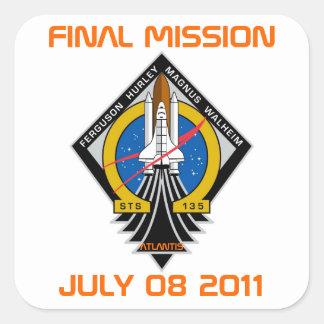 STS-135パッチ、最終的な代表団、2011年7月08日 スクエアシール