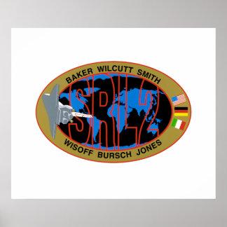 STS-68シャトル・ミッションの代表団パッチ- 1994年 ポスター