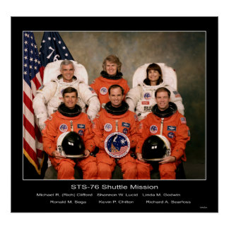 STS-76シャトル・ミッションの乗組員- 1966年 ポスター