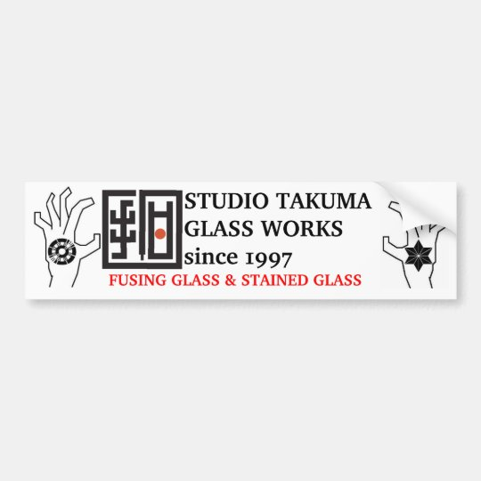 studio takuma glass works STICKER バンパーステッカー