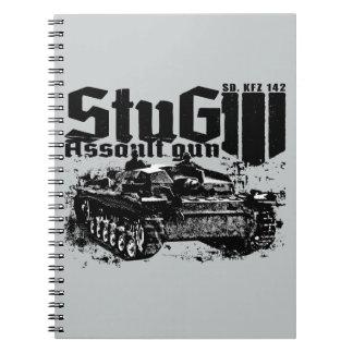 StuG IIIの螺線形の写真のノート ノートブック