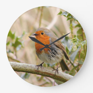 Stunning Robin ラージ壁時計