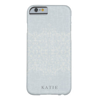 Stunning Silver & Lace Monogram Barely There iPhone 6 ケース