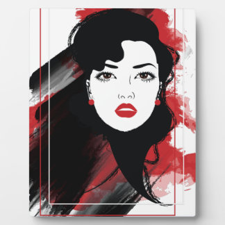 Style Retro Art Wellcodaの美しい女性 フォトプラーク