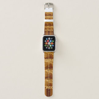 Stylish Infinity African Maps Pattern design Color Apple Watchバンド