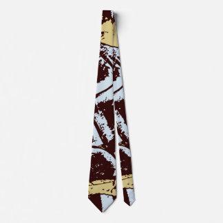 Stylish Modern Abstract Blue Brown Beige Cravat オリジナルタイ