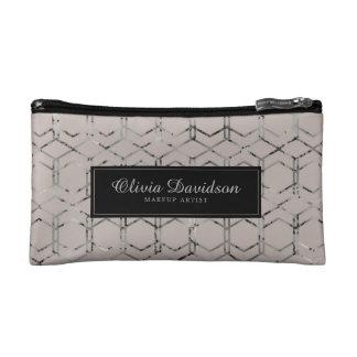 Stylish Personalized Geometric Makeup Bag コスメティックバッグ