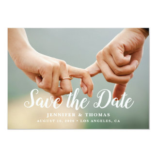 Stylish Photo Save the Date カード