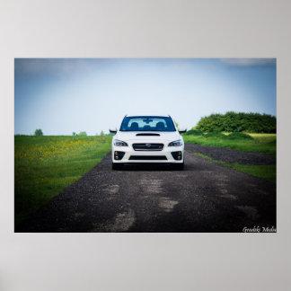 Subaru STiの前部分 ポスター