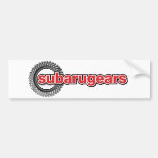 Subarugears バンパーステッカー
