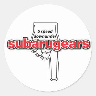 Subarugears 5つの速度のdownunderのステッカー ラウンドシール