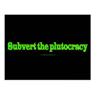 SubvertPlutocracy ポストカード