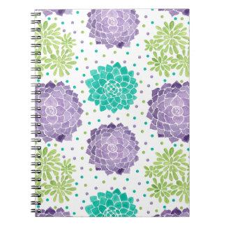 Succulentsパターン ノートブック