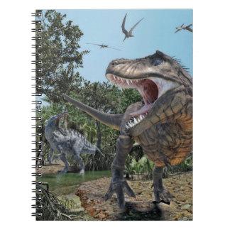 Suchomimusおよびティラノサウルス・レックスのレックスの対立 ノートブック