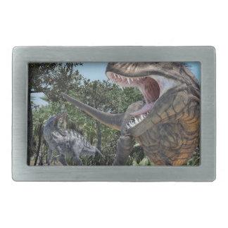 Suchomimusおよびティラノサウルス・レックスのレックスの対立 長方形ベルトバックル