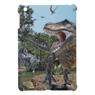 Suchomimusおよびティラノサウルス・レックスのレックスの対立 iPad Mini Case