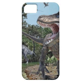 Suchomimusおよびティラノサウルス・レックスのレックスの対立 iPhone SE/5/5s ケース
