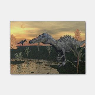 Suchomimusの恐竜- 3Dは描写します ポストイット