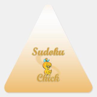Sudokuのひよこ 三角形シール