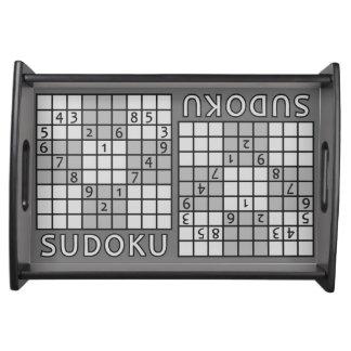 SUDOKUのサービングの皿 トレー