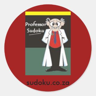 Sudokuのステッカーの教授L ラウンドシール