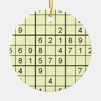 Sudokuの黄色のオーナメント セラミックオーナメント