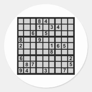 Sudoku -難題 ラウンドシール